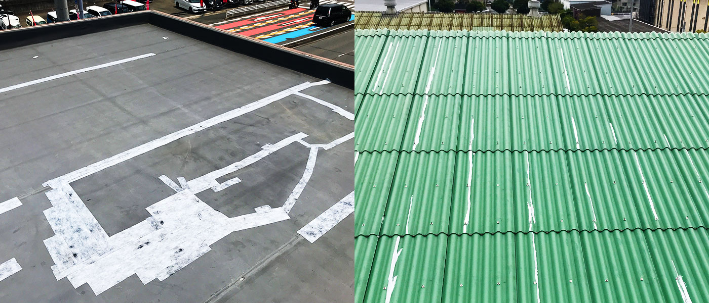 屋根の補修例