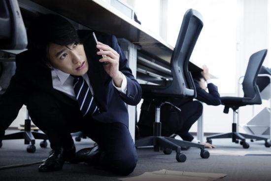 あなたのオフィスは安全ですか?オフィス内でできる簡単な地震対策例