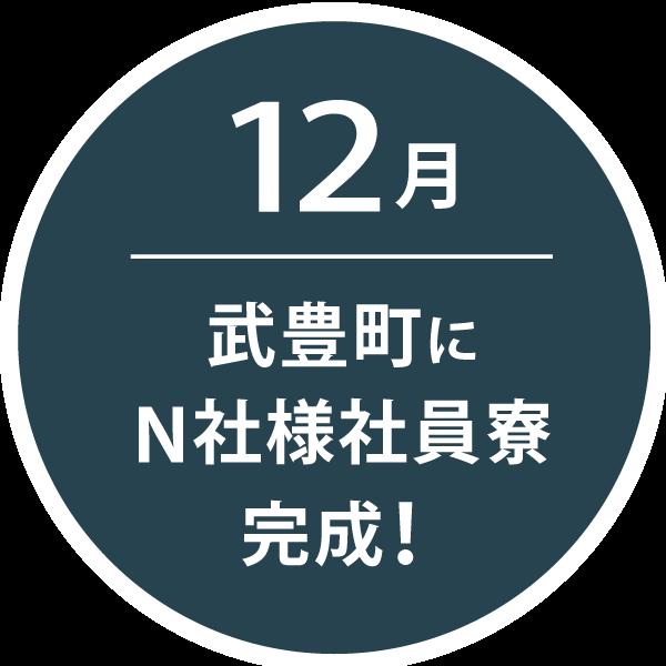 12月、武豊町にN社様社員寮完成!